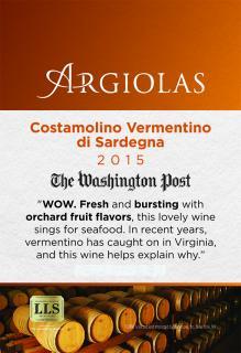 Rosemont Market Wine Club Argiolas Costamolino 2015