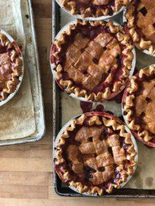 Pies in bakery